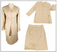 Ladies Pencil skirt suit & Jacket suit size 16 Cream Ivory Wedding Races