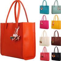 New Elegant Girls handbags leather Shoulder Bag Candy Color Flowers Women Tote