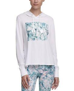 Calvin Klein Performance Women's Logo-Graphic Hoodie, White, Size S, $50, NwT
