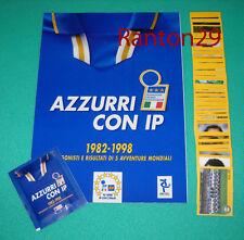 AZZURRI CON IP - ALBUM VUOTO + SET COMPLETO 100 FIGURINE + BUSTINA - MERLIN