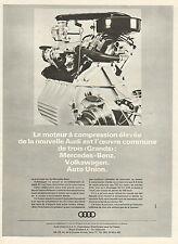 Publicité Advertising 1965  Le moteur à compression élevée de la nouvelle AUDI
