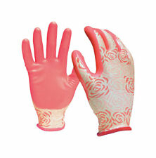 Digz  Pink  Women's  S  Nitrile  Gardening Gloves