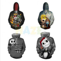 The Nightmare Before Christmas Jack Cosplay Costume Hooded Pullover Manteau