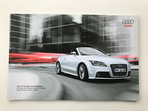 Audi TT Coupe & Roadster Price & Specifications list guide Model year 03 / 2008