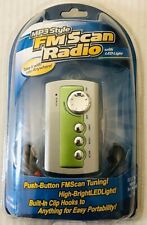 FM Scan Radio With LED Light MP3 Style Push Button Tuning Portable & Headphones