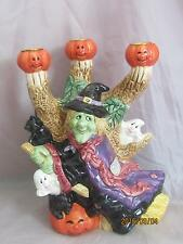 Fitz & Floyd Omnibus 1995 3 Light Halloween Party Candle Holder