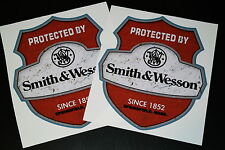 Protected by smith & wesson xxl 2 pièces autocollant sticker GRAND set Décalque Big 12