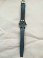 Q&Q Quartz Blue Dial Silver Tone Case Ladies Watch