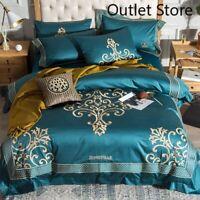 Luxury Egyptian Cotton 4/6pcs Egyptian Cotton Royal Bedding Set Bed Sheet Set