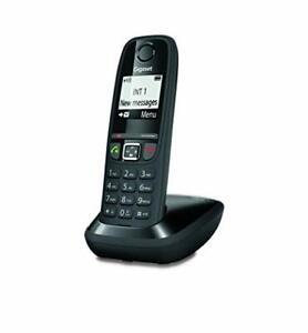 Gigaset AS470 Solo - Téléphone Fixe sans Fil - Noir Solo,