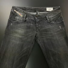 Diesel MATIC Womens Jeans W29 L27 Grey Slim Fit Straight Low Rise