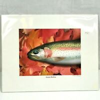 "Autumn Rainbow Fish Art Print Signed Paul Gray 14"" x 11"" Matted Unframed"