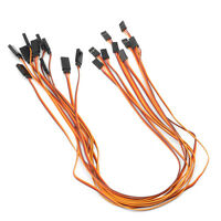 10Pcs 500mm Lead Extension Servo Wire Cable For 50cm RC Futaba JR Male to Female