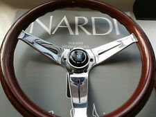 NARDI DEEP CORN 350 steering wheel mahogany glossy spokes 80 mm deep - 14 inches