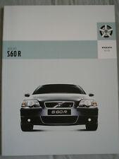 Volvo S60 R range brochure Apr 2003