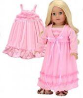 "Doll Clothes 18"" Nightgown Peignoir Light Pink Sophia's Fits American Girl Doll"