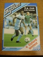 13/02/1982 Coventry City v Oxford United [FA Cup] . Footy Progs (aka bobfrankand
