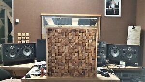 Akustik Panel Diffusor aus Massivholz - Studio Acoustic Treatment Diffuser- Deco