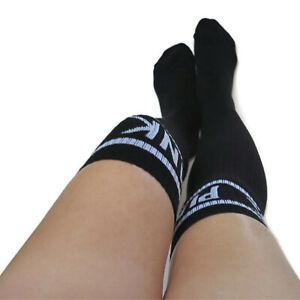 Victoria Secret Pink RARE Over The Knee High Socks  PINK Logo Black NWOT OS