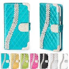 Handy Tasche Strass für Samsung Galaxy Schutz Hülle Flip Cover Case Etui Wallet