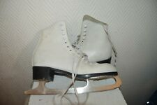 PATIN A GLACE CUIR PATINAGE CCM SKATE DANCE LEATHER TAILLE 44 VINTAGE US 10