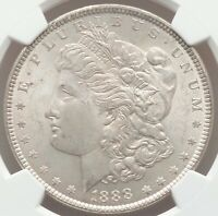 1888 Morgan Silver Dollar PCGS Certified MS64 EYE APPEALING NEAR GEM QUALITY