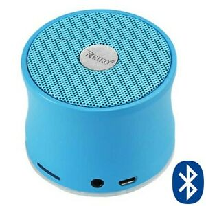 Mini Bluetooth Speaker Wireless 3W w/ 3.5mm Audio Plug & TF Card Slot Mp3 Blue