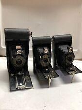 Lot of 3 Kodak Folding Cameras