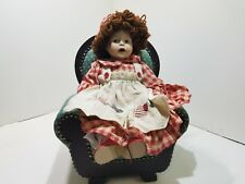 Collectors Lane Kids Redhead Doll Sitting in a Green Plush Chair