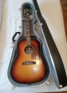Epiphone Masterbilt Texan guitar ALL SOLID with hiscox case