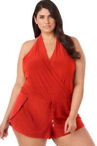 NWT Magicsuit by Miraclesuit Plus Size 24W Bianca Romper One-Piece Swimsuit $192