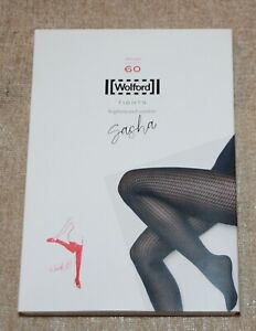 WOLFORD SASHA TIGHTS IN NAVY OPAL SIZE LARGE - NEW IN SEALED PACKET