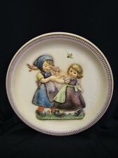 "Hummel Anniversary Plate ""Spring Dance"" 1980 Second Edition Hand Painted"