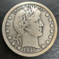 1916 P Silver Barber Quarter 25c Fine F or eBay VF Very Fine