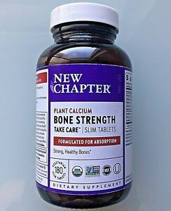 New Chapter: BONE STRENGTH Take Care, 180 Slim Tablets   Non-GMO (Value Size)