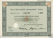 Wertpapier / Aktie Bremer Silberwarenfabrik Aktiengesellschaft - 1000 DM - 1951