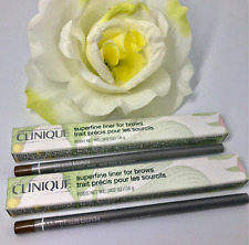 2x Clinique Superfine Liner For Brows 01 SOFT BLONDE ~.08g Full Size, New in Box