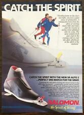 1988 Salomon Ski Boot and Binding Combos Print Ad Catch the Spirit