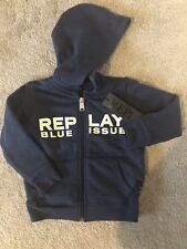 Replay Boys Navy Hoodie, Brand New With Tags, 12 Months
