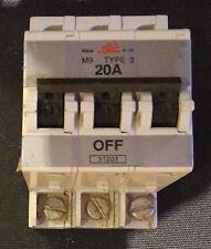 Bill / Memshield 1 3T203  3 Pole Mcb 20A Type 3 M9 BS3871