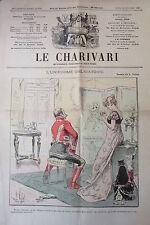 Satirical Pamphlet Politique the Charivari of 1899 Uniforms Hauntings Daumier