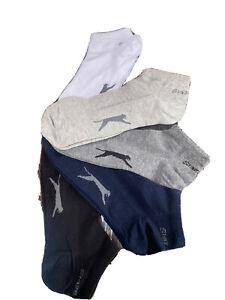 Mens Size 7-11 Slazenger Trainers Socks 5 Pair Pack (assorted colours)