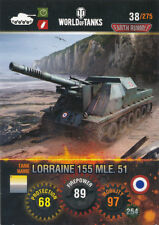 Panini World of Tanks trading cards nº 38-Nom: Lorraine 155 mle.51