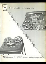 Very Rare Amega Reel To Reel Tape Deck Picture Sound Recorder Dealer Brochure