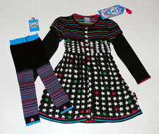 NWT Mim Pi Boutique Circus Show Stars Stripes Black Dress~Ankle Tights Set 116 6
