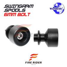 Black CNC Swingarm Spools 6MM L/R For Aprilia Dorsoduro 1200 11-16 12 13 14 15