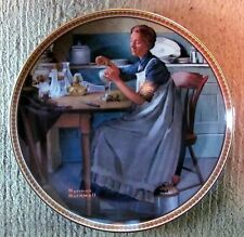 "Norman Rockwell - Rediscovered Women Plate #9 - ""Working In The Kitchen"" (2653)"
