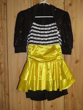 BUMBLE BEE JAZZ DANCE HALLOWEEN COSTUME LARGE CHILD TO ADULT SMALL 3 PC