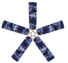 Ceiling Fan Blade FABRIC Cover NIGHT SKY SPACE COSMOS  decor 5 decorative pcs