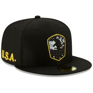 Minnesota Vikings Hat New Era 59Fifty Fitted Cap 7-1/2 Blackout Camo Military